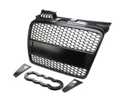 RS4-Look Singleframe Grill schwarz Audi A4 B7