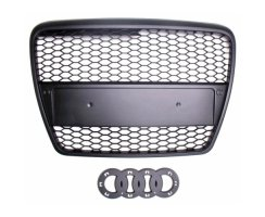 RS6-Look Singleframe schwarz Grill Audi A6 C6/4F